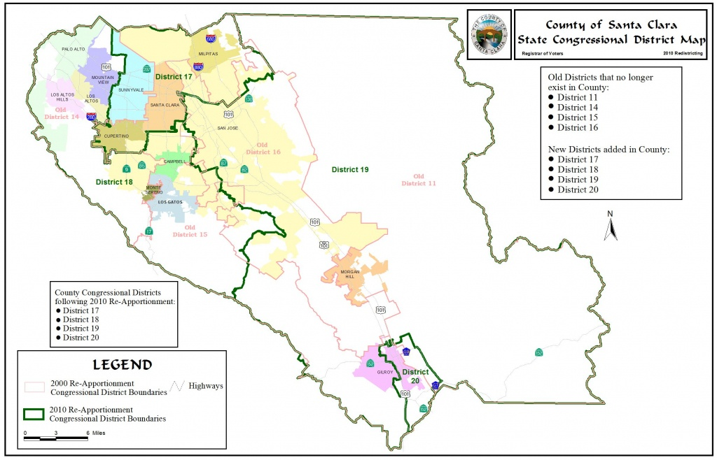 Redistricting - Registrar Of Voters - County Of Santa Clara - Santa Clara California Map