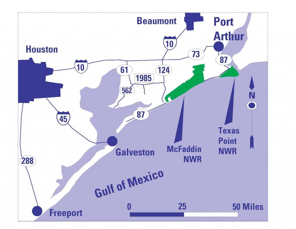 Refuge Map - Mcfaddin - U.s. Fish And Wildlife Service - Texas Wildlife Refuge Map