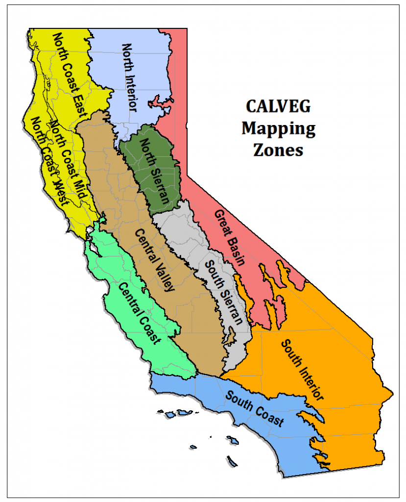 Region 5 - Resource Management - Map Of Mid California