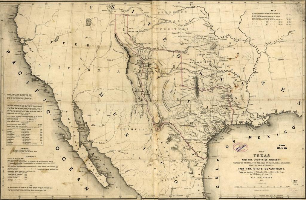 Republic Of Texas Map, 1846 - Texas Map 1846