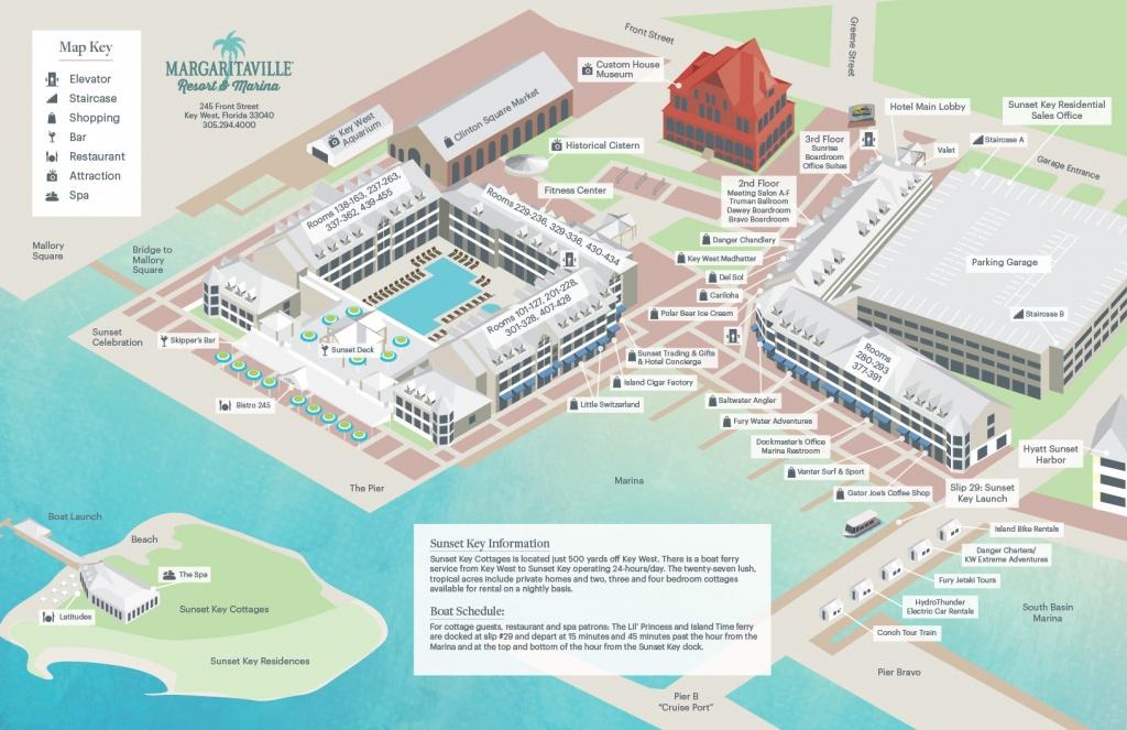 Resort Map - Street Map Of Key West Florida