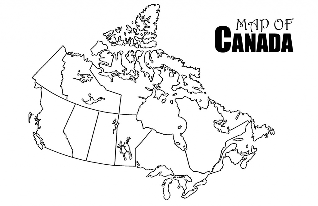 Revolutionary Printable Canada Map Strange Of Provinces And - Map Of Canada Black And White Printable