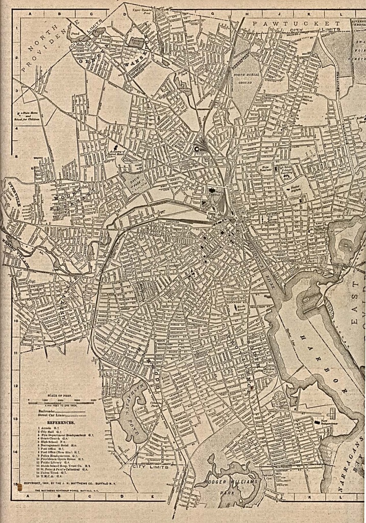 Rhode Island Maps - Perry-Castañeda Map Collection - Ut Library Online - Printable Map Of Providence Ri