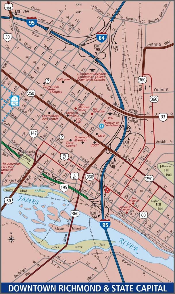 Richmond - Downtown Map - Printable Map Of Richmond Va