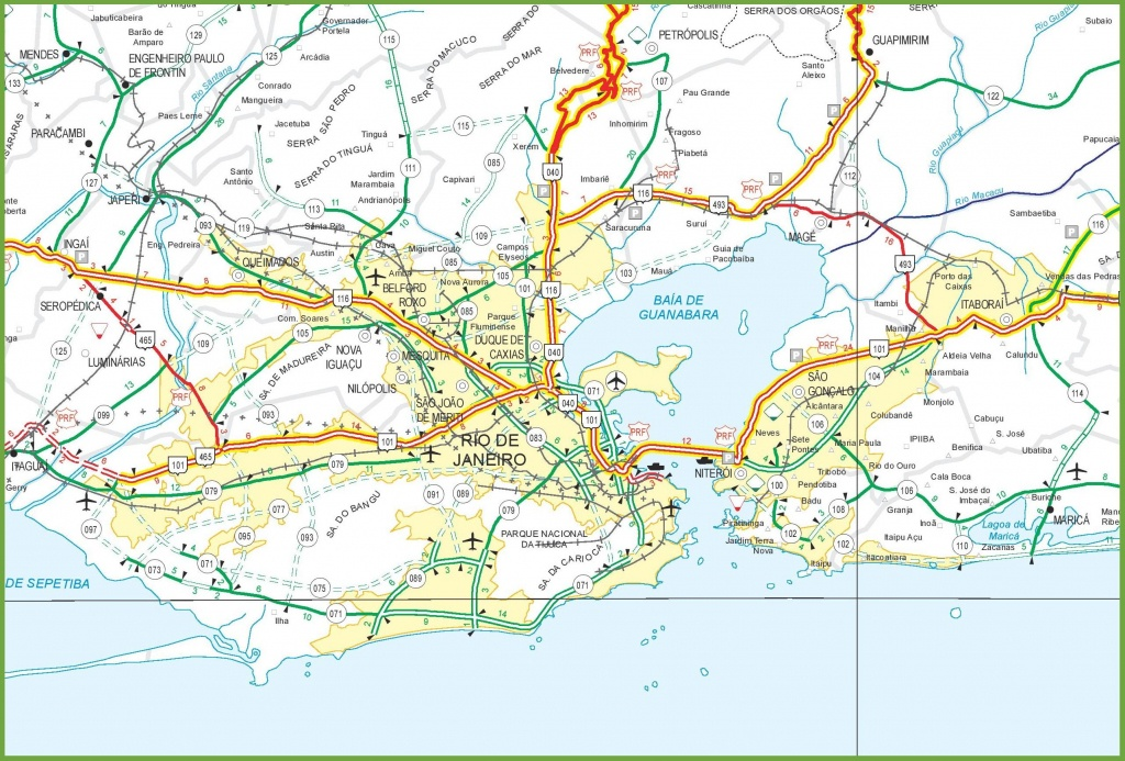 Rio De Janeiro Autoroute De La Carte - Rio Autoroute De La Carte (Le - Printable Map Of Rio De Janeiro