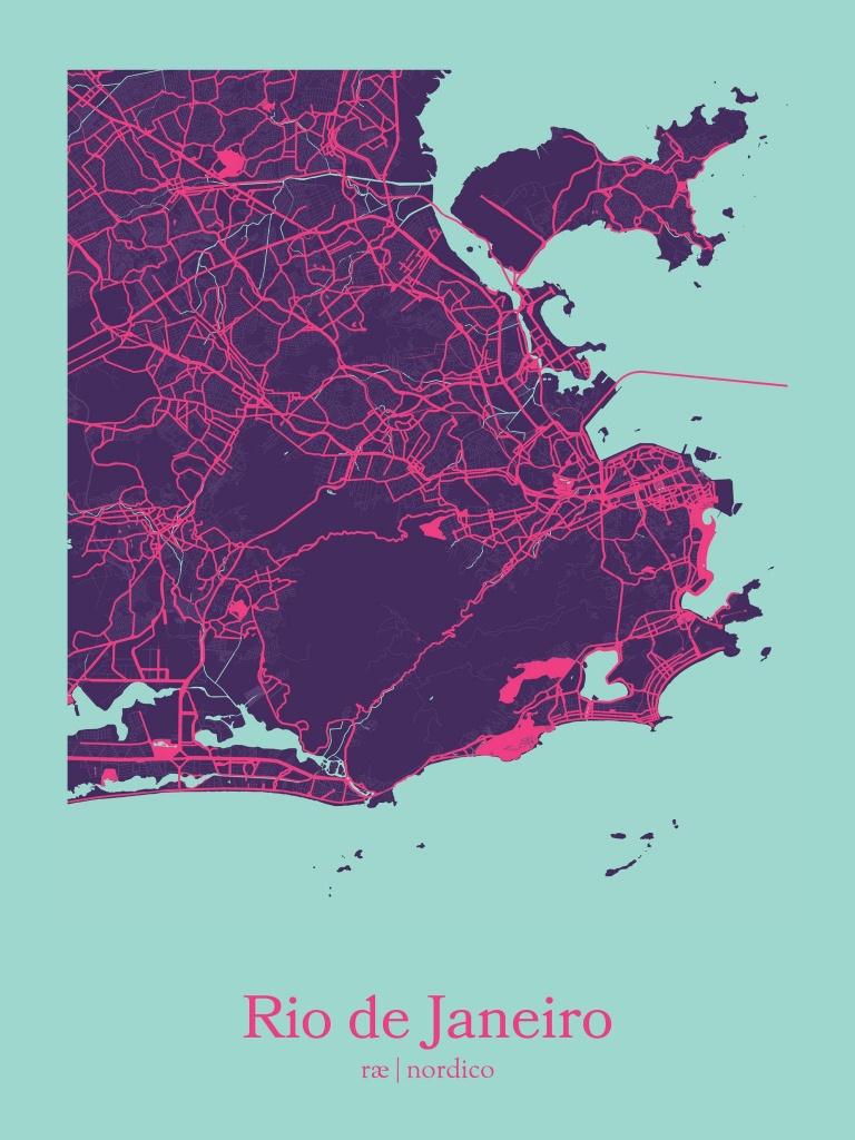 Rio De Janeiro, Brazil Map Print | Maps | Country Maps, Rio Brazil - Printable Map Of Rio De Janeiro
