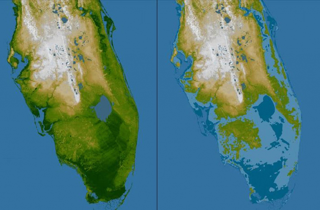 Rising Seas May Mean Tampa Bay Floods Even During Sunny Days | Wusf News - Map Of Florida After Sea Level Rise