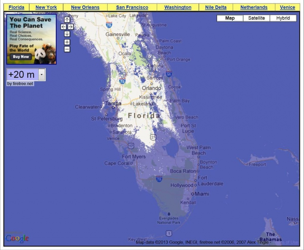 Rising Water Levels In South Florida Will Dramatically Change - Florida Water Rising Map