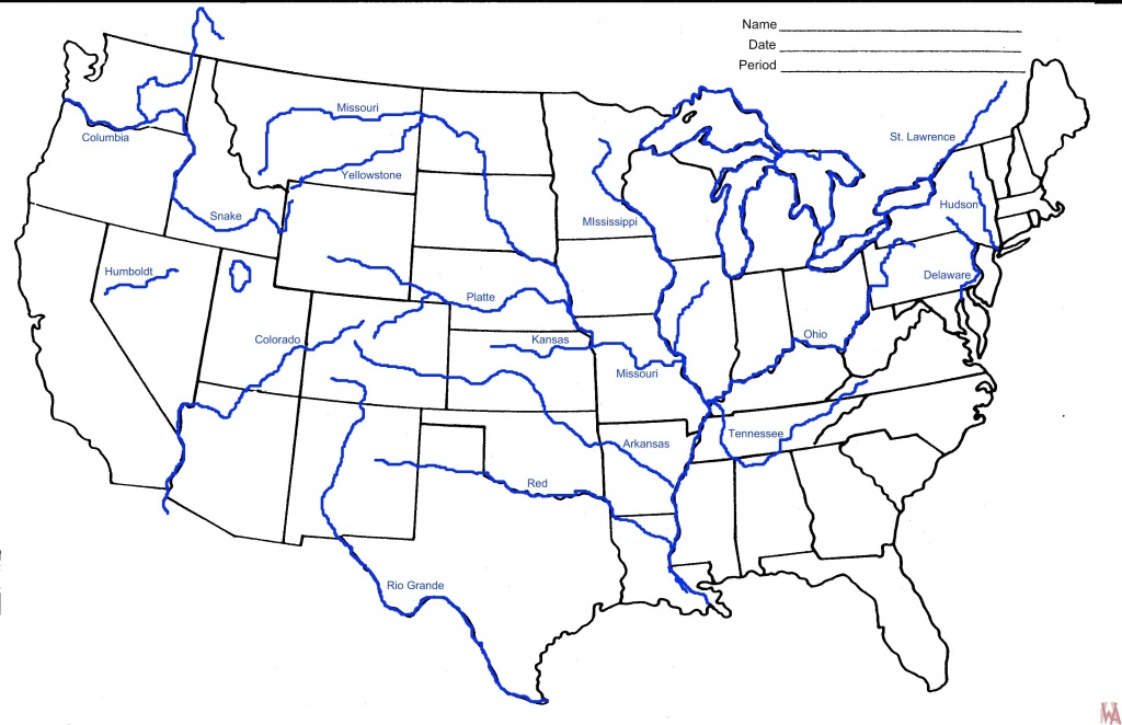 River Map Of United States - Iloveuforever - Us Rivers Map Printable