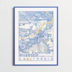 Riverside California Map Uc Riverside Poster Print City Map   Printable Map Of Riverside Ca
