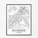 Riverside Map Art Print Riverside Poster Map Of Riverside | Etsy   Printable Map Of Riverside Ca