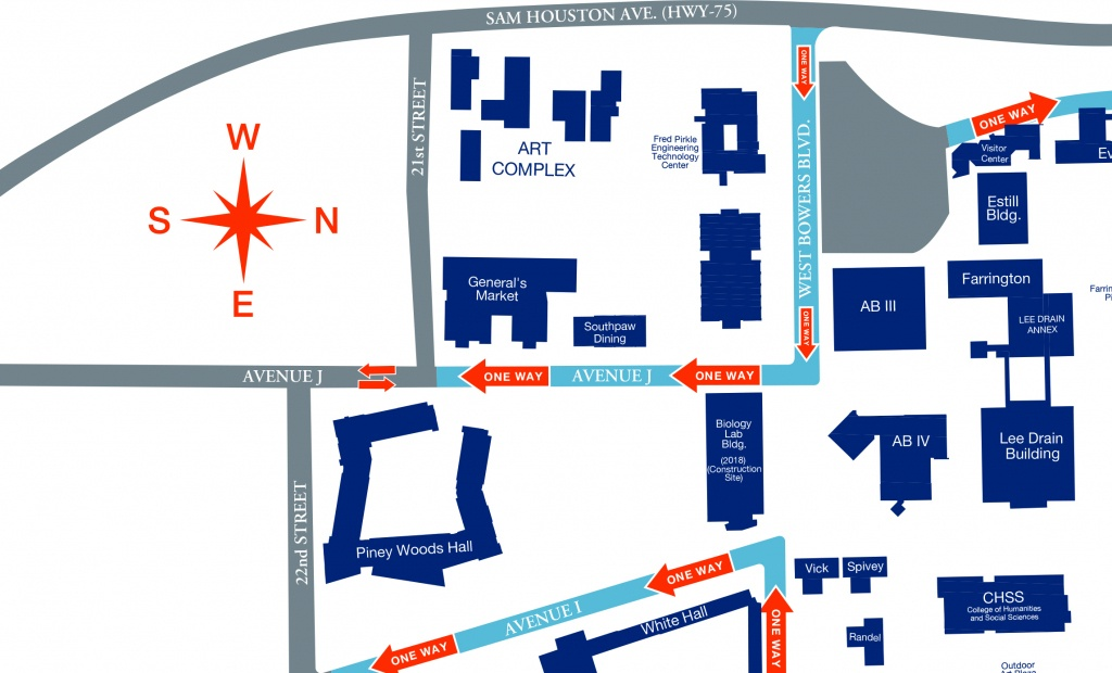 Road Access To Campus - Texas State University Housing Map