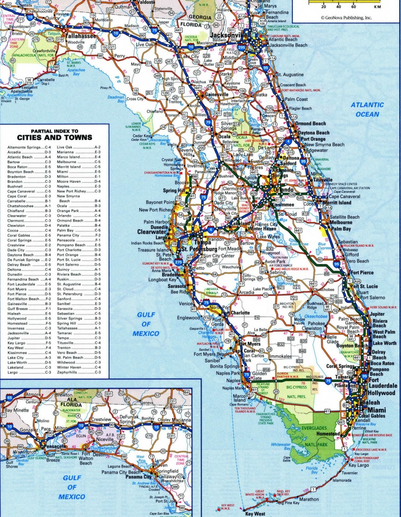 Road Map Florida And Travel Information | Download Free Road Map Florida - Road Map Of Florida Panhandle