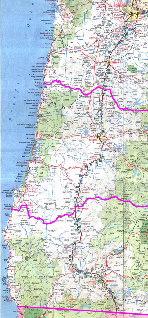 Road Map Of California And Oregon Reference Map Reference California - Road Map Oregon California