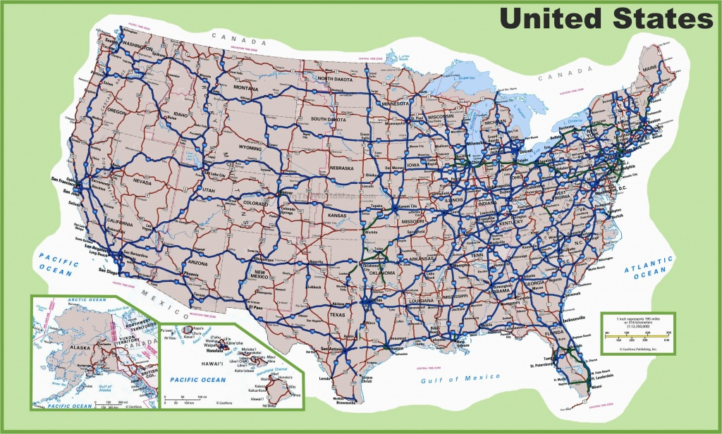 Road Map Of Michigan Highways Printable Us Map With Interstate - Printable Us Road Map