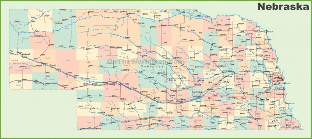Road Map Of Nebraska With Cities - Printable Map Of Nebraska