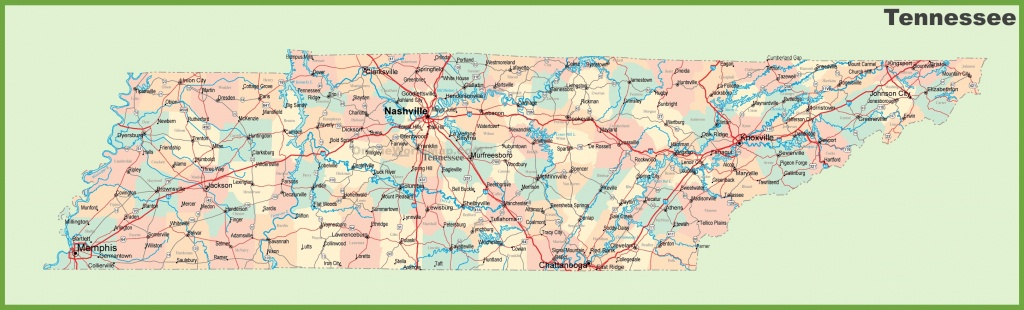 Road Map Of Tennessee With Cities - State Map Of Tennessee Printable