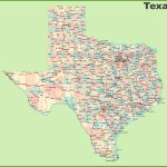 Road Map Of Texas With Cities   Texas County Map With Roads