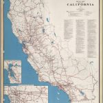 Road Map Of The State Of California, 1955.   David Rumsey Historical   Historical Map Of California