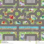 Road Map Top View 3D Stock Illustration. Illustration Of Toys   Printable Road Maps For Kids