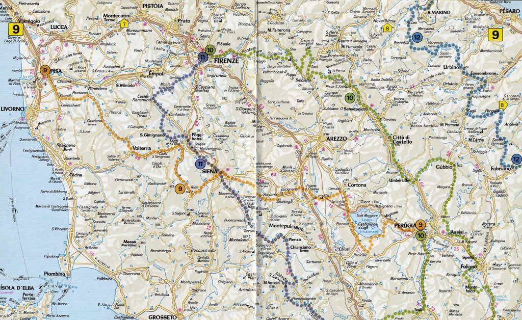 Road Map Tuscany ~ Exodoinvest - Printable Map Of Tuscany