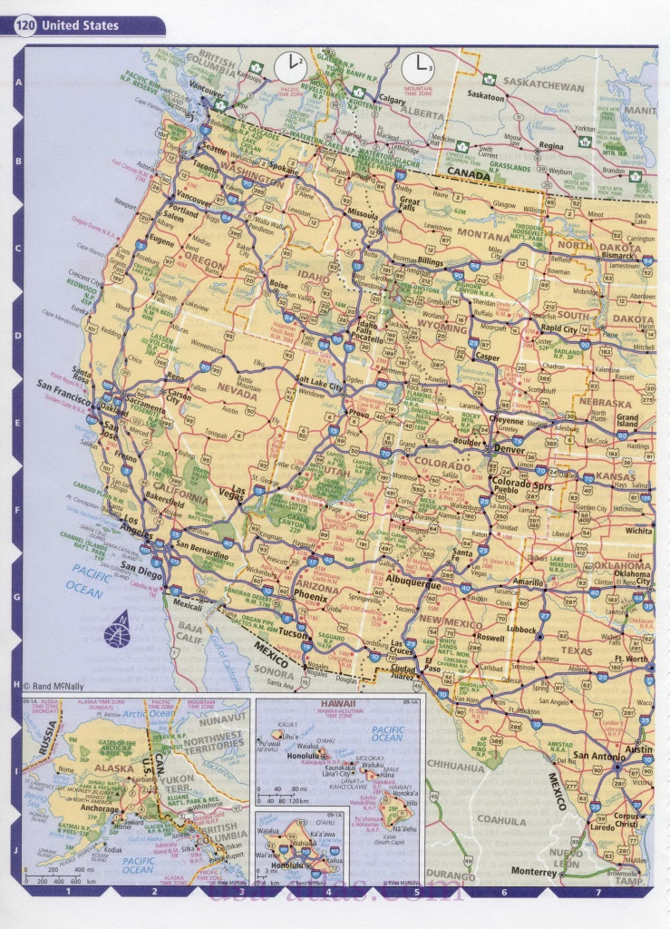 Road Map Usa. Detailed Road Map Of Usa. Large Clear Highway Map Of - Printable Road Map Of Western Us