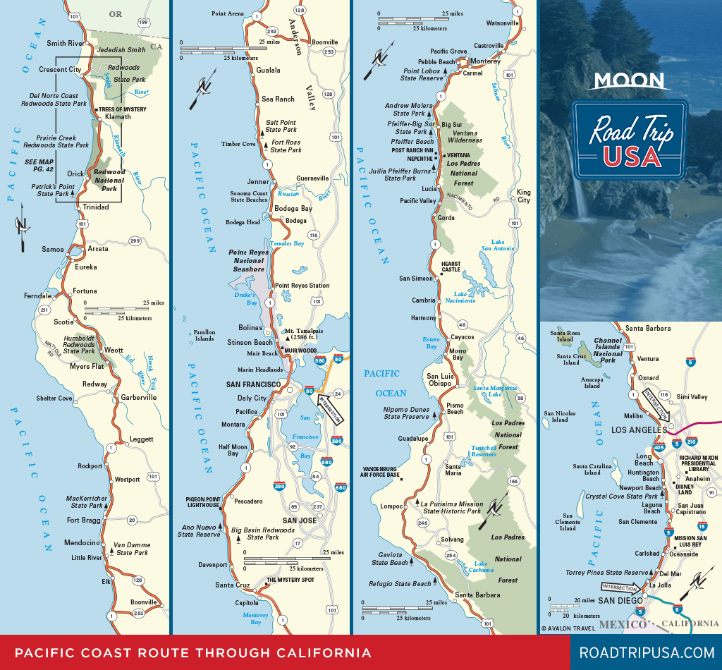Road Trip California On The Classic Pacific Coast Route | Road Trip Usa - Highway 1 California Map