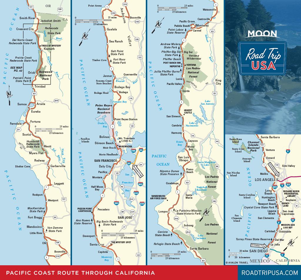 Road Trip California On The Classic Pacific Coast Route | Road Trip Usa - Map Of La California Coast