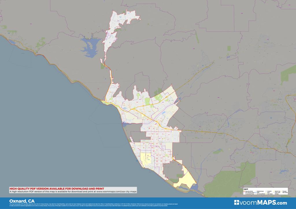 Road, Zip Code & Neighborhood Map Of Oxnard, Ca – Voommaps - Google Maps Oxnard California