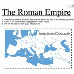 Roman Empire Worksheets – Karenlynndixon   Roman Empire Map For Kids Printable Map