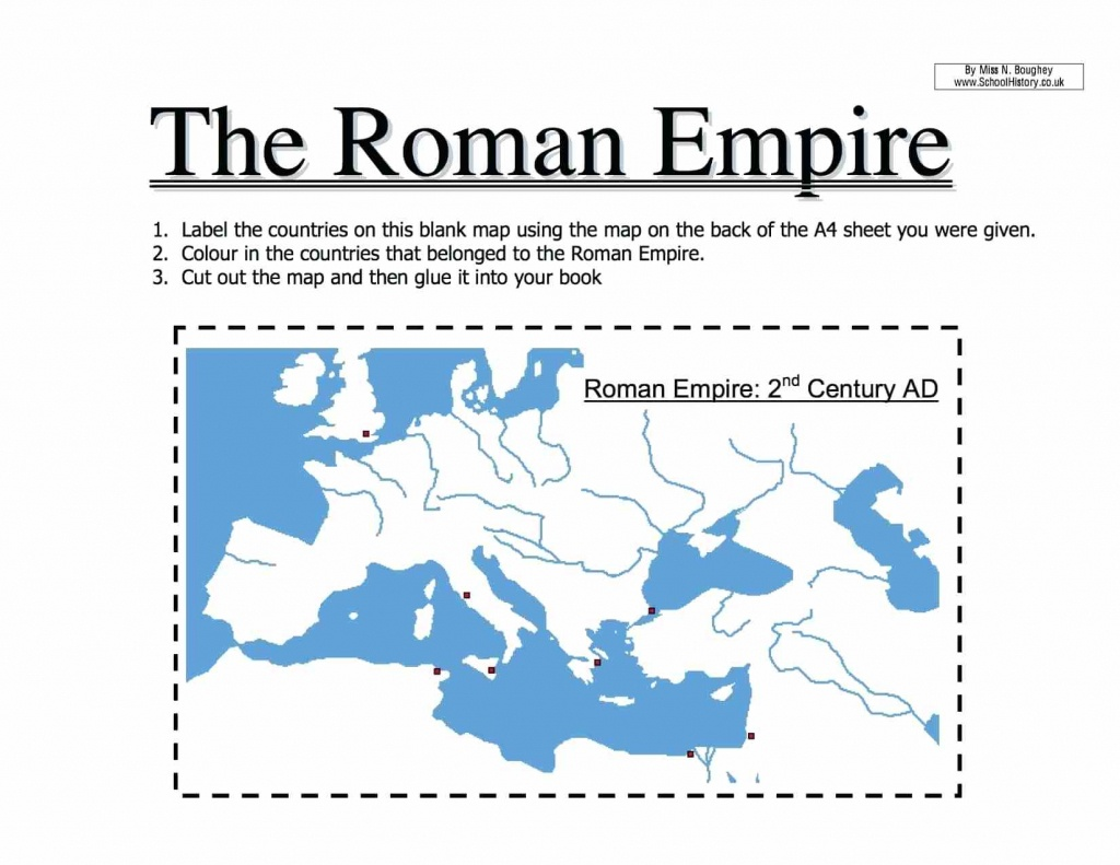 Roman Empire Worksheets – Karenlynndixon - Roman Empire Map For Kids Printable Map