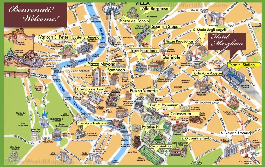 Rome Maps | Italy | Maps Of Rome (Roma) - Rome Tourist Map Printable