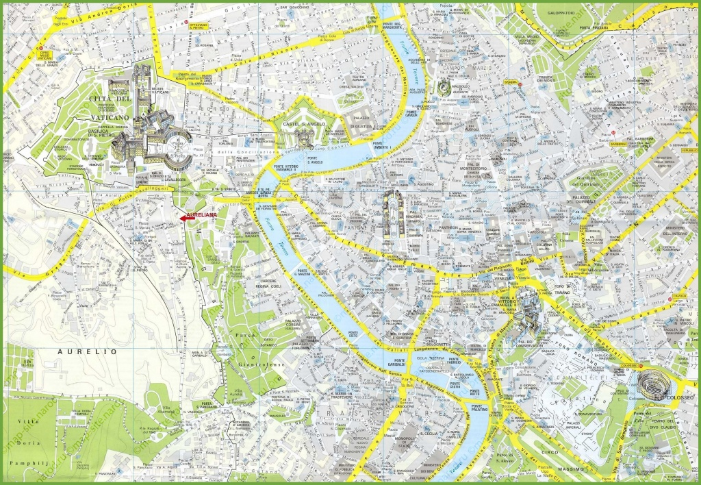 Rome Tourist Attractions Map - Printable Map Of Rome Attractions