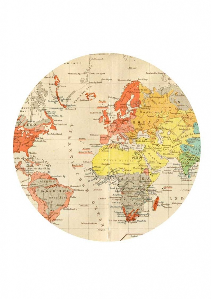 Round Map For World Clock Hack | C: World And History | World Map - Round World Map Printable