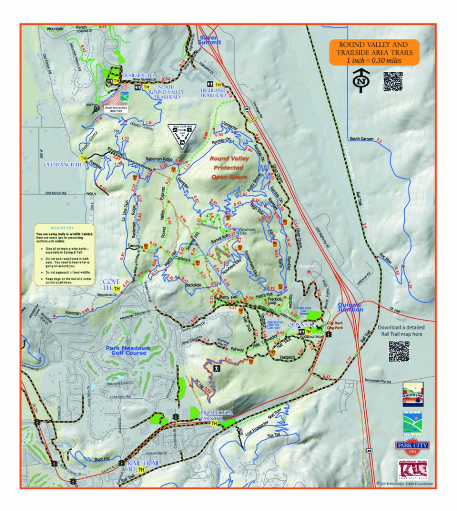 Round Valley Summer - Printable Hiking Maps