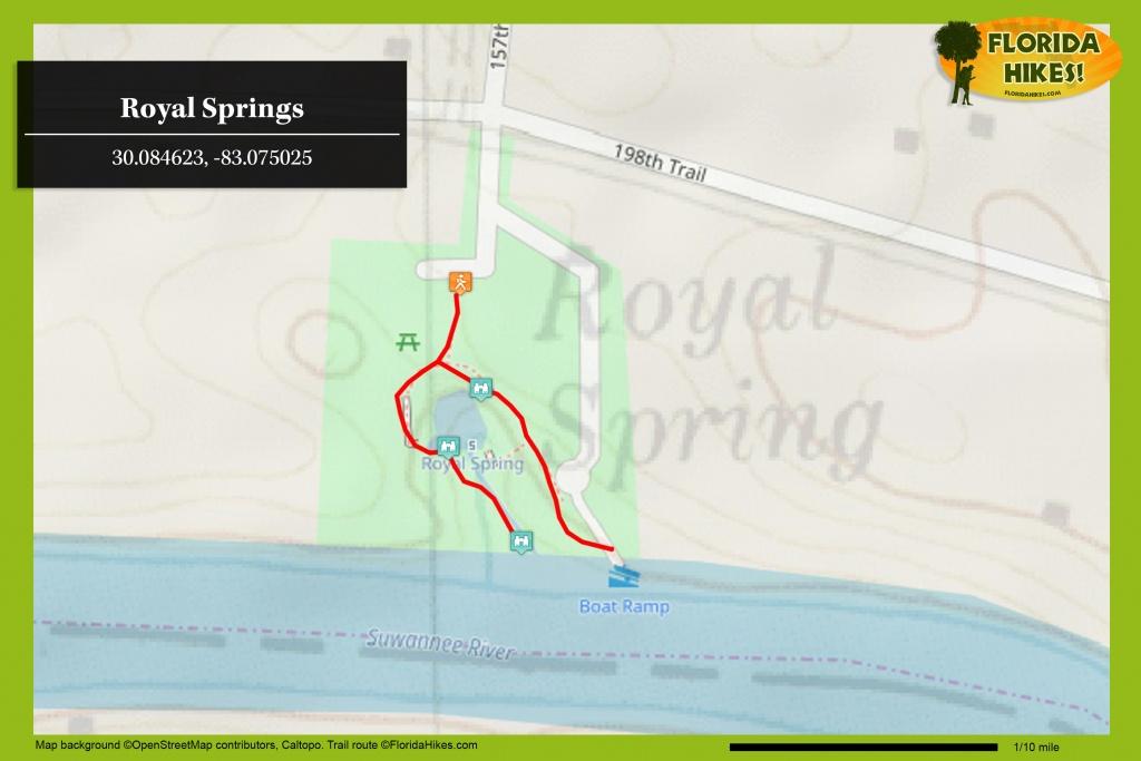 Royal Springs | Florida Hikes! - Florida Hot Springs Map