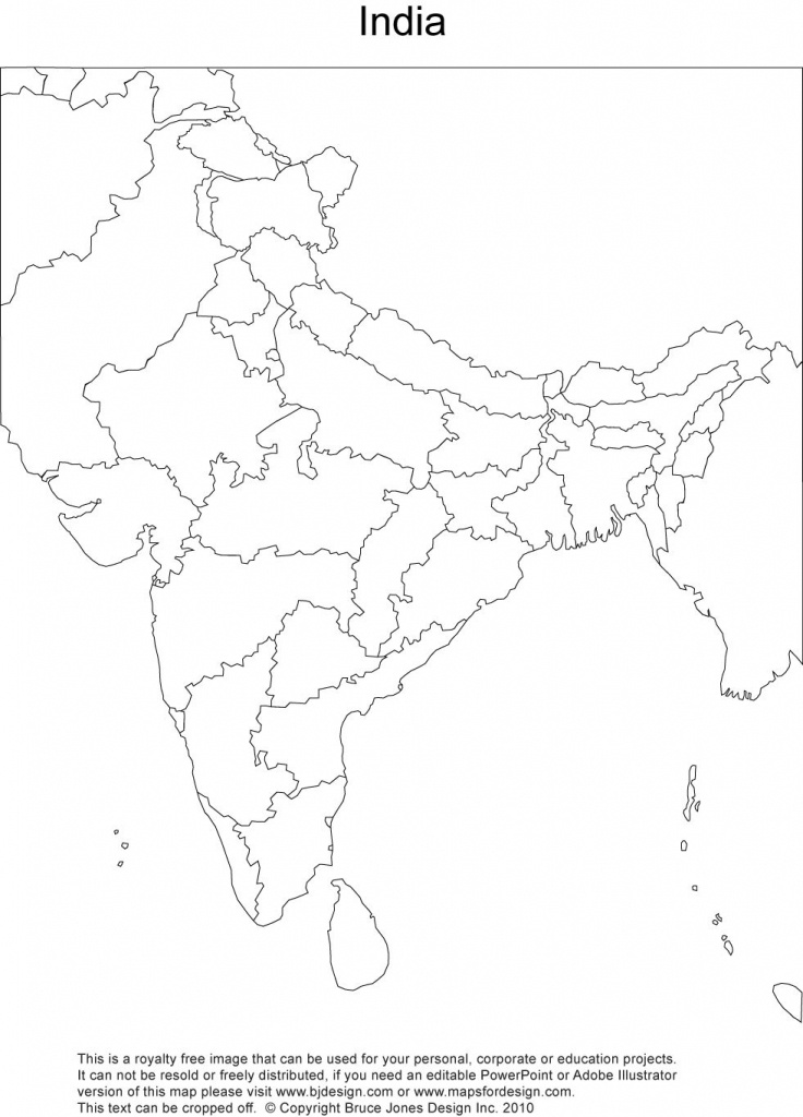 Royalty Free, Printable, Blank, India Map With Administrative - Physical Map Of India Blank Printable