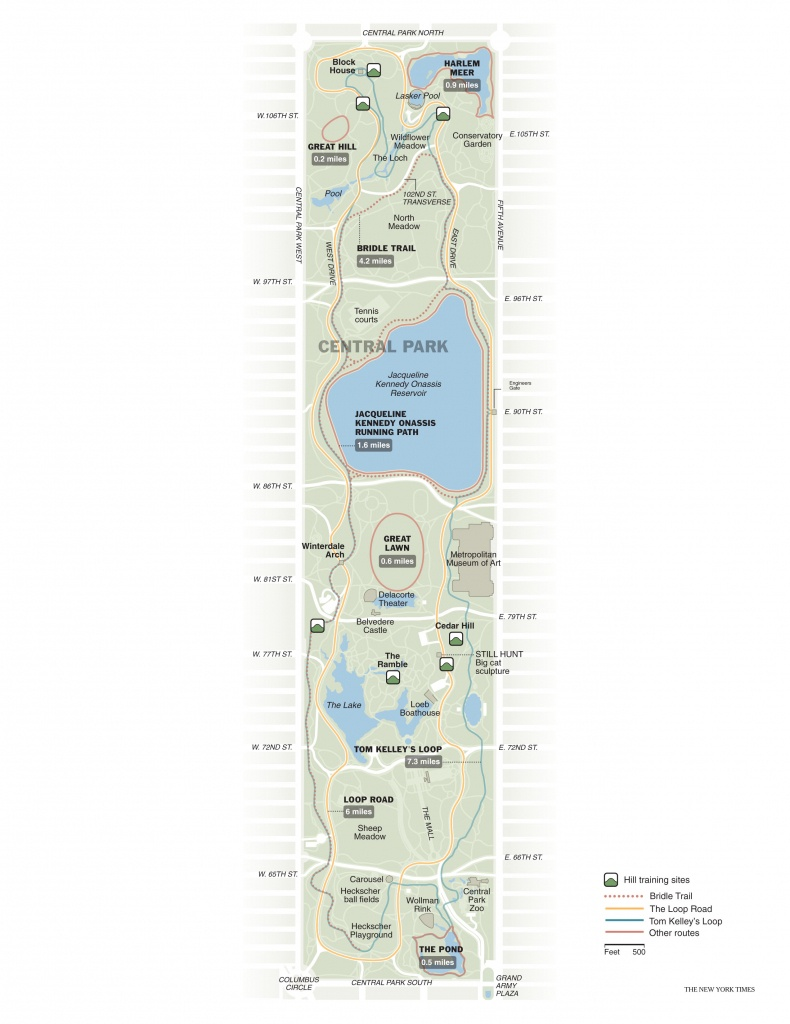 Running In Central Park   Free Toursfoot - Printable Map Of Central Park