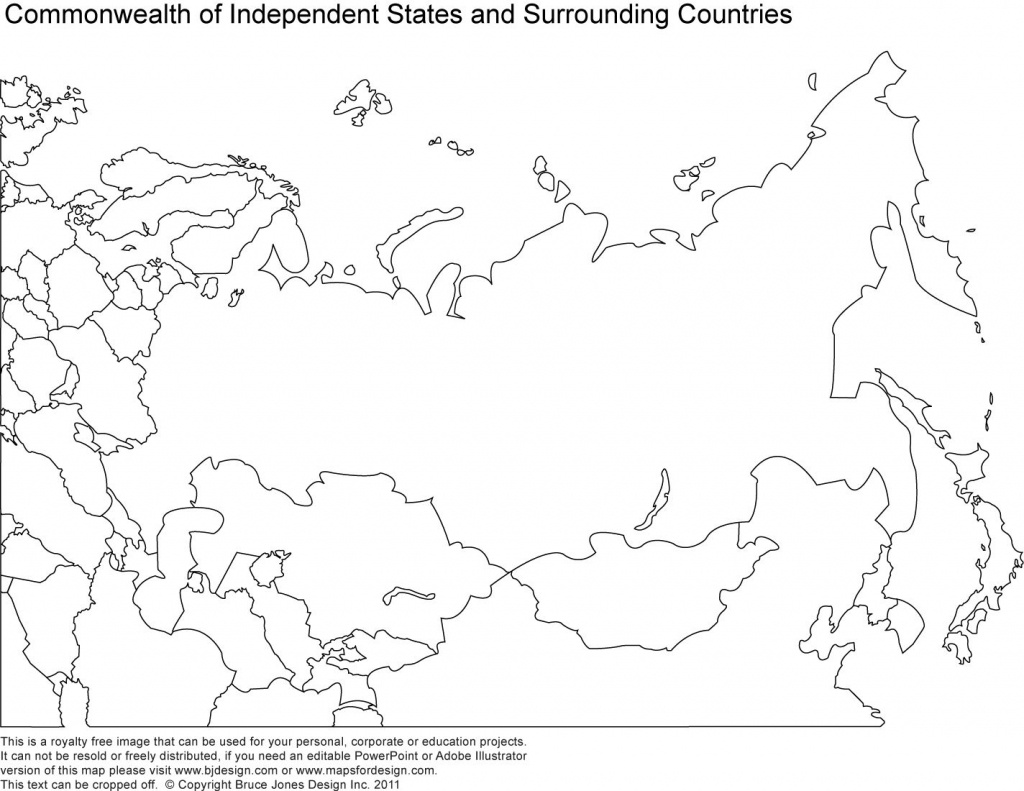 Russia, Asia, Central Asia Printable Blank Maps, Royalty Free | Maps - Russia Map Outline Printable
