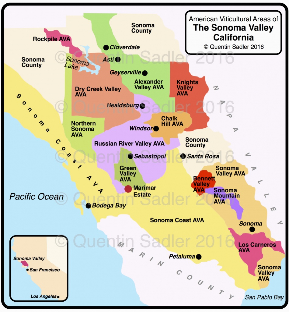 Russian River Valley California Map | Secretmuseum - Russian River California Map