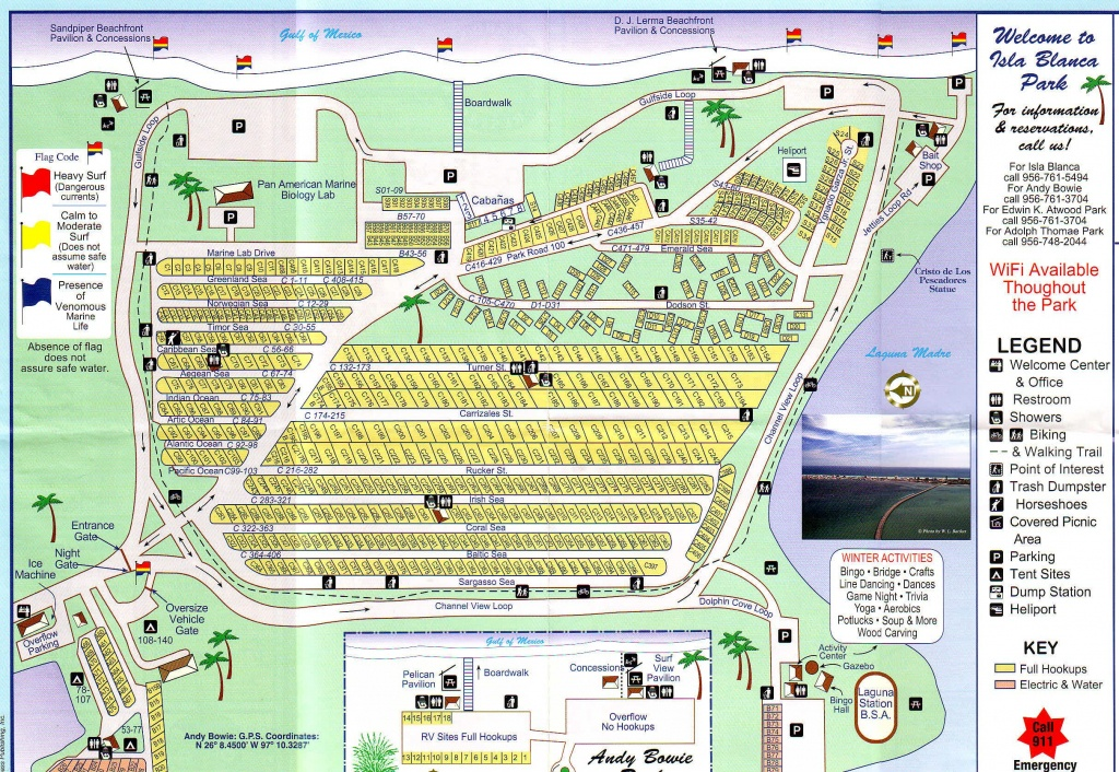 Rv Park South Padre Island Tx - Isla Blanca Rv Park Cameron County - Texas Rv Parks Map