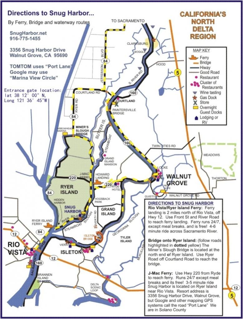 Sacramento Delta Map - Northern California Fishing Map