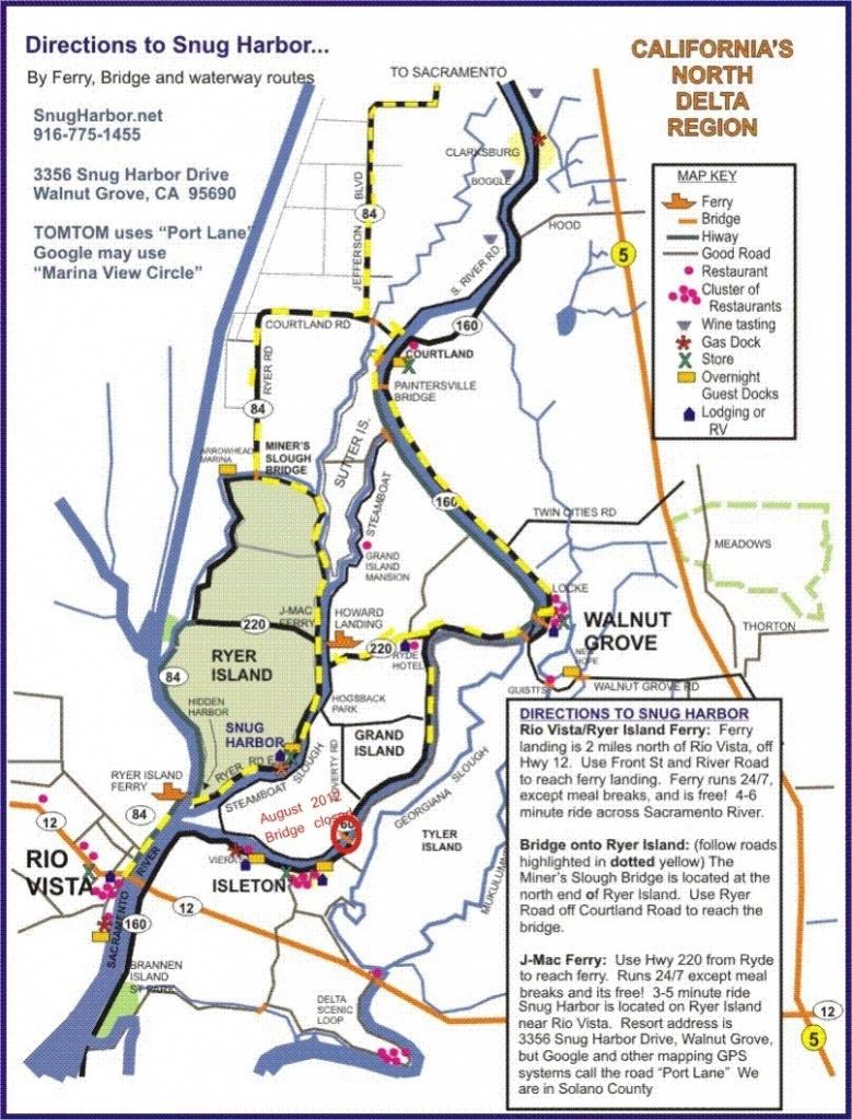 Sacramento River Regarding Map Of Northern California Waterways - California Waterways Map