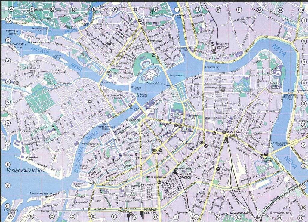 Saint Petersburg Map - Detailed City And Metro Maps Of Saint - Printable Map Of St Petersburg Russia