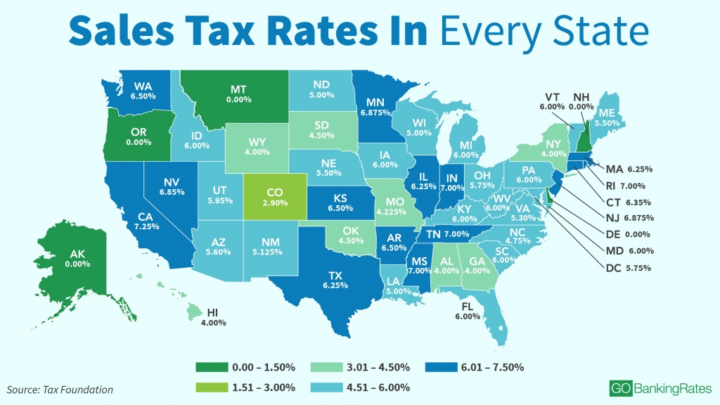Sales Taxstate: Here's How Much You're Really Paying - California Sales Tax Map