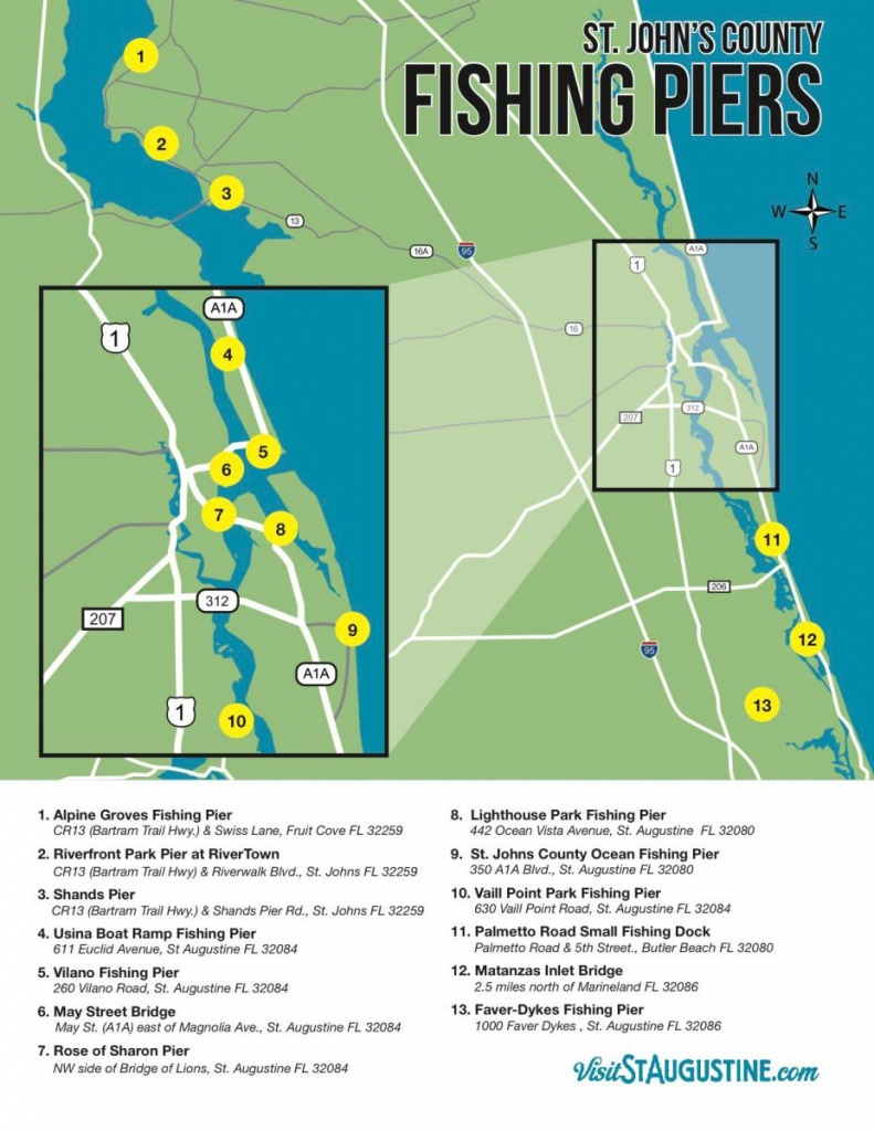 Saltwater & Freshwater Fishing In St. Augustine, Fl - Where Is St Augustine Florida On The Map