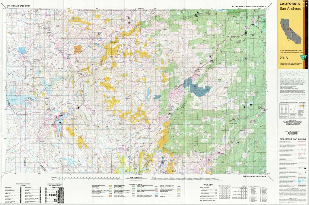 San Andreas California Blm Surface Management Maps – Zegold - Blm Map California