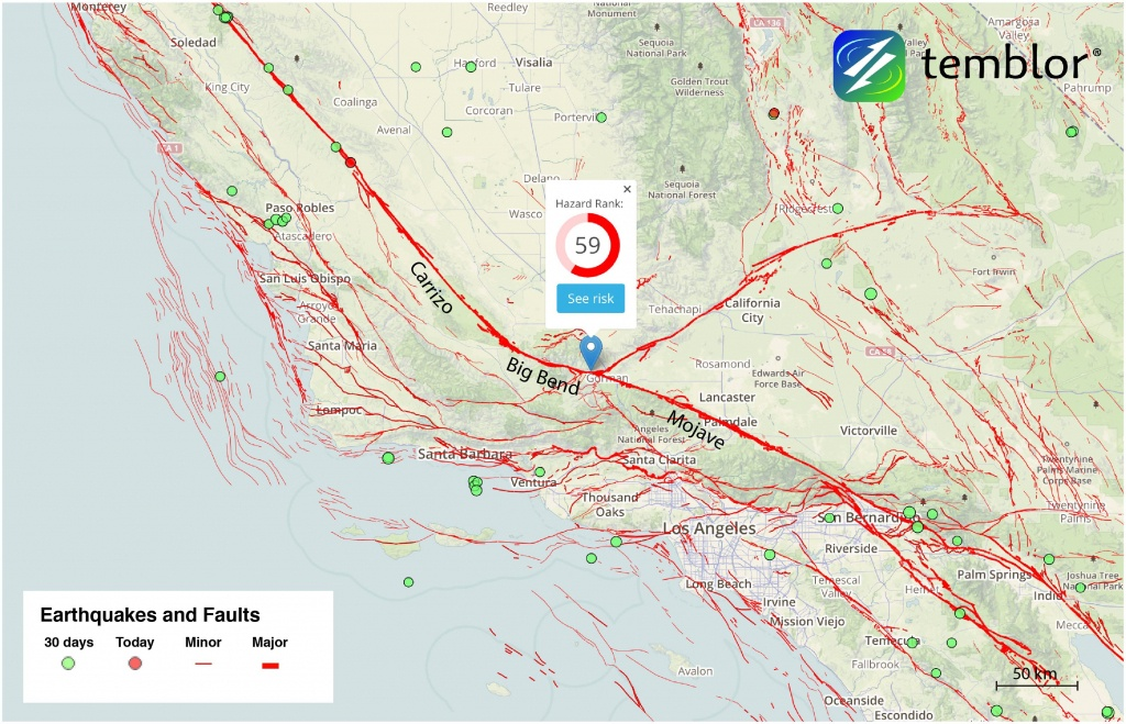 San-Andreas-Fault-Map-Southern-California-Fault-Map – Temblor - Map Of The San Andreas Fault In Southern California