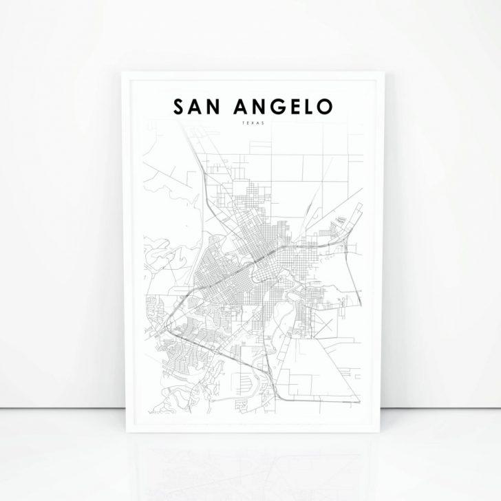 Street Map Of San Angelo Texas
