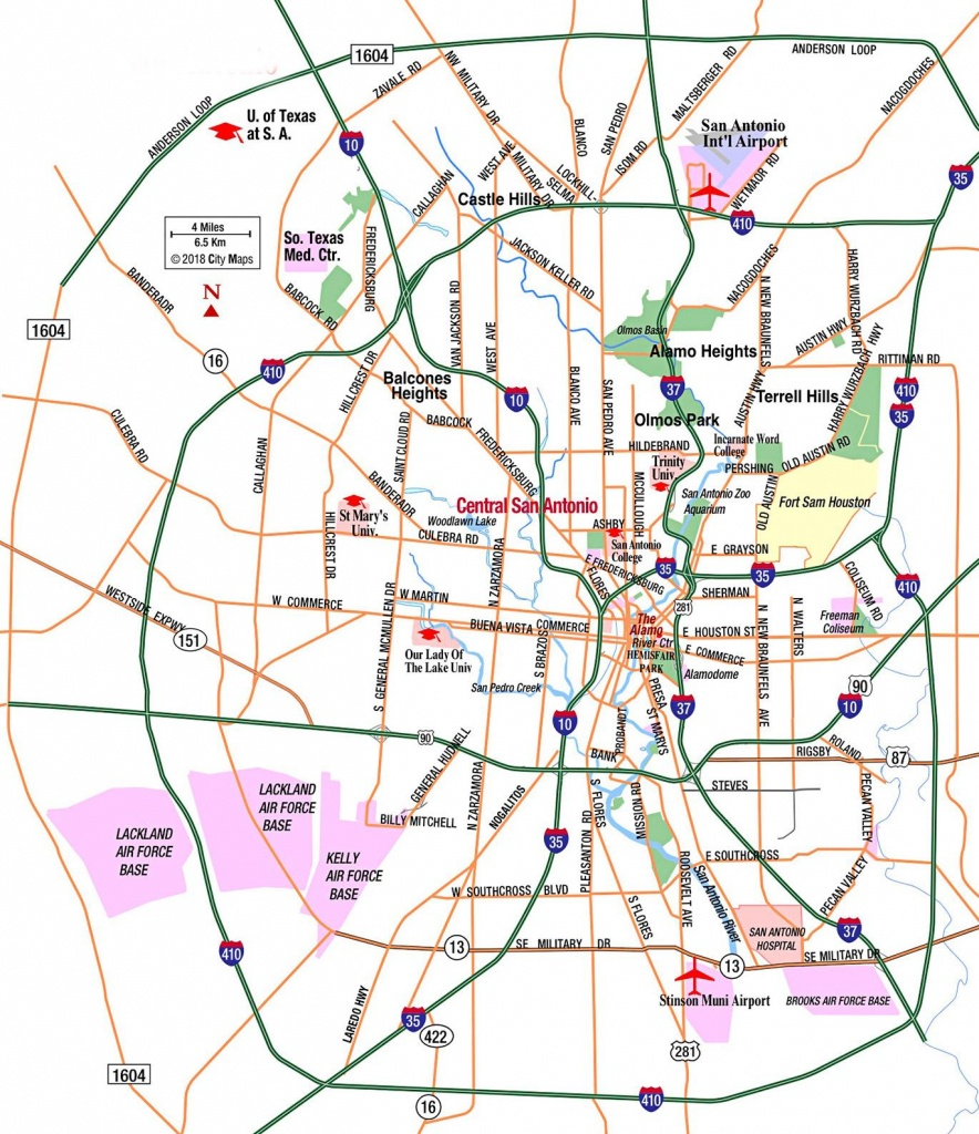 San Antonio Area Highways - Aaccessmaps - Map Of San Antonio Texas Area